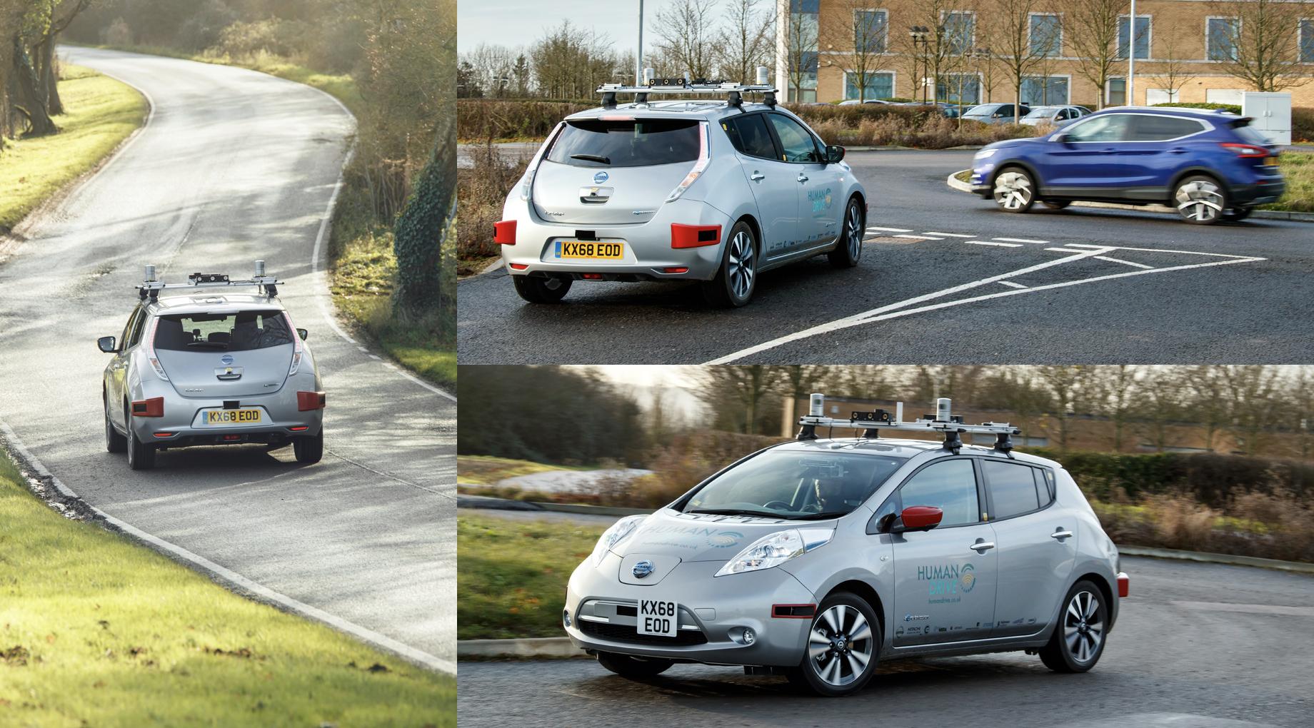 Беспилотный Nissan Leaf пересёк значительную часть Британии