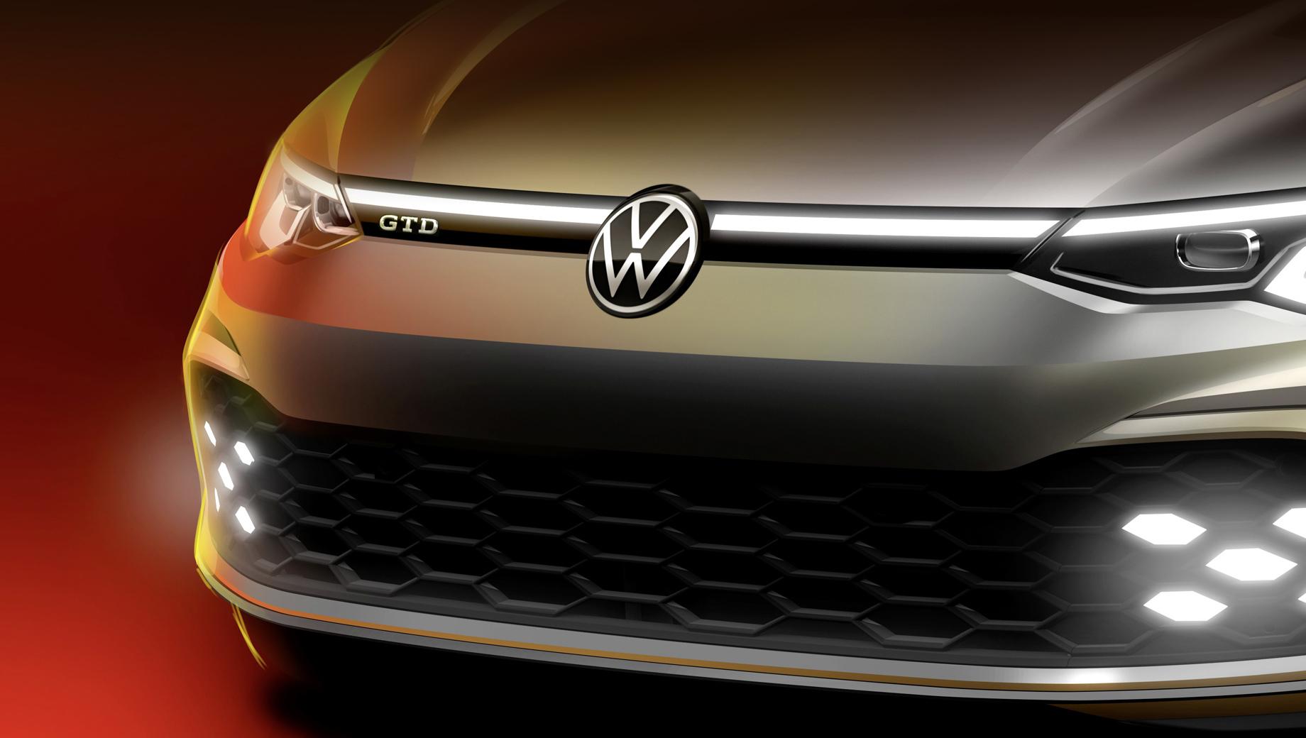 Volkswagen golf,Volkswagen golf gtd. Интересно компания решила оформить огни в бампере, явно с оглядкой на яркий Renault Clio RS. Похожий дизайн мы ждём и от GTI.
