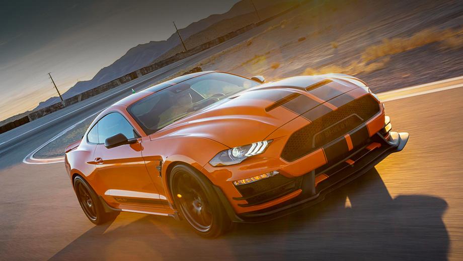 Ford mustang. Разработка версии велась два года в тесном сотрудничестве с отделением Ford Performance и другими партнёрами. В результате серия доступна как фастбек и кабриолет. Разгон до 96,5 км/ч занимает 3,5 с.