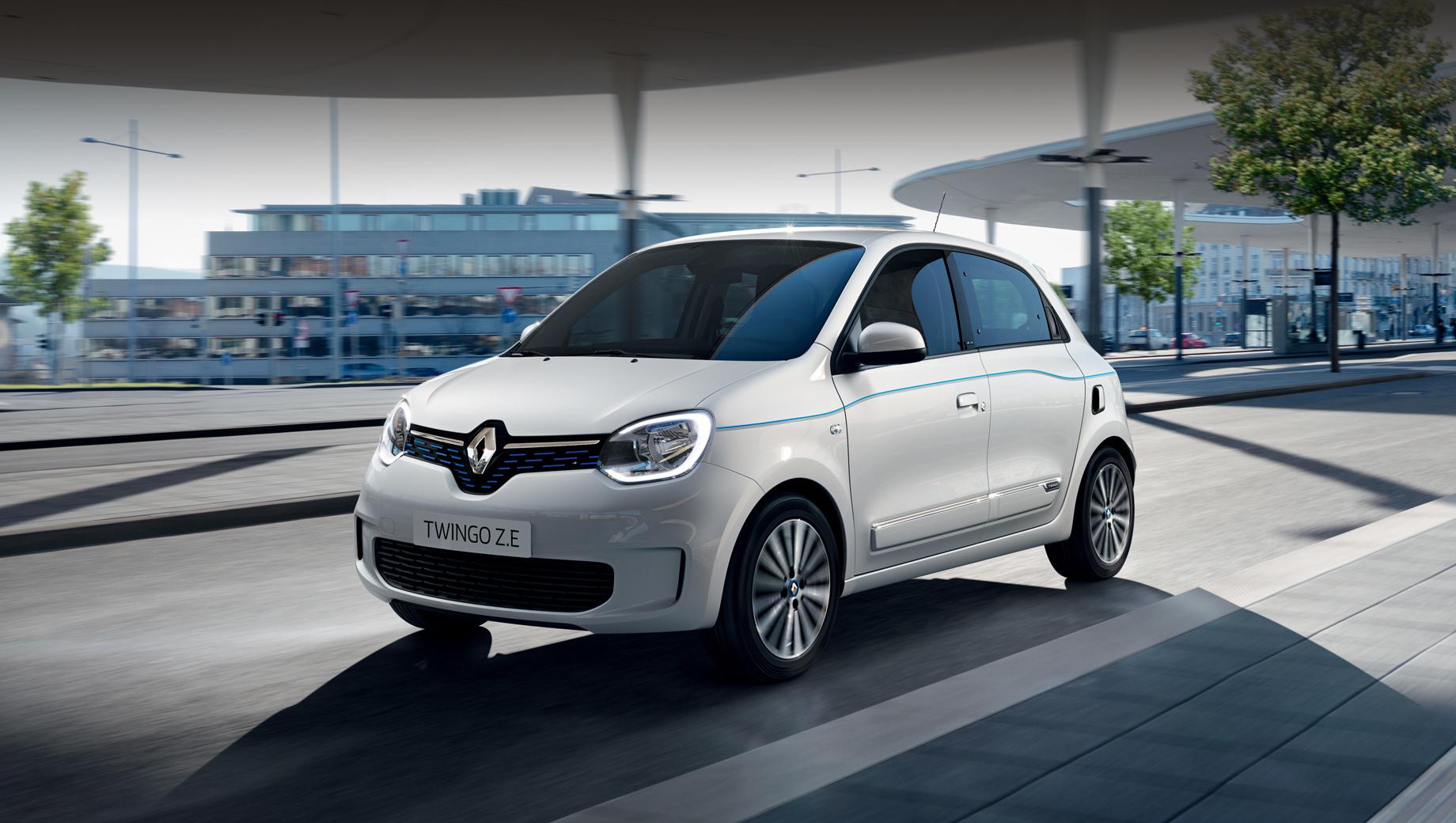 Renault twingo,Renault twingo ze. Удивительно, но Twingo Z.E. внешне мало чем отличается от бензинового Twingo, лишь несколько малозаметных штрихов указывают на машину с нулевым выхлопом.