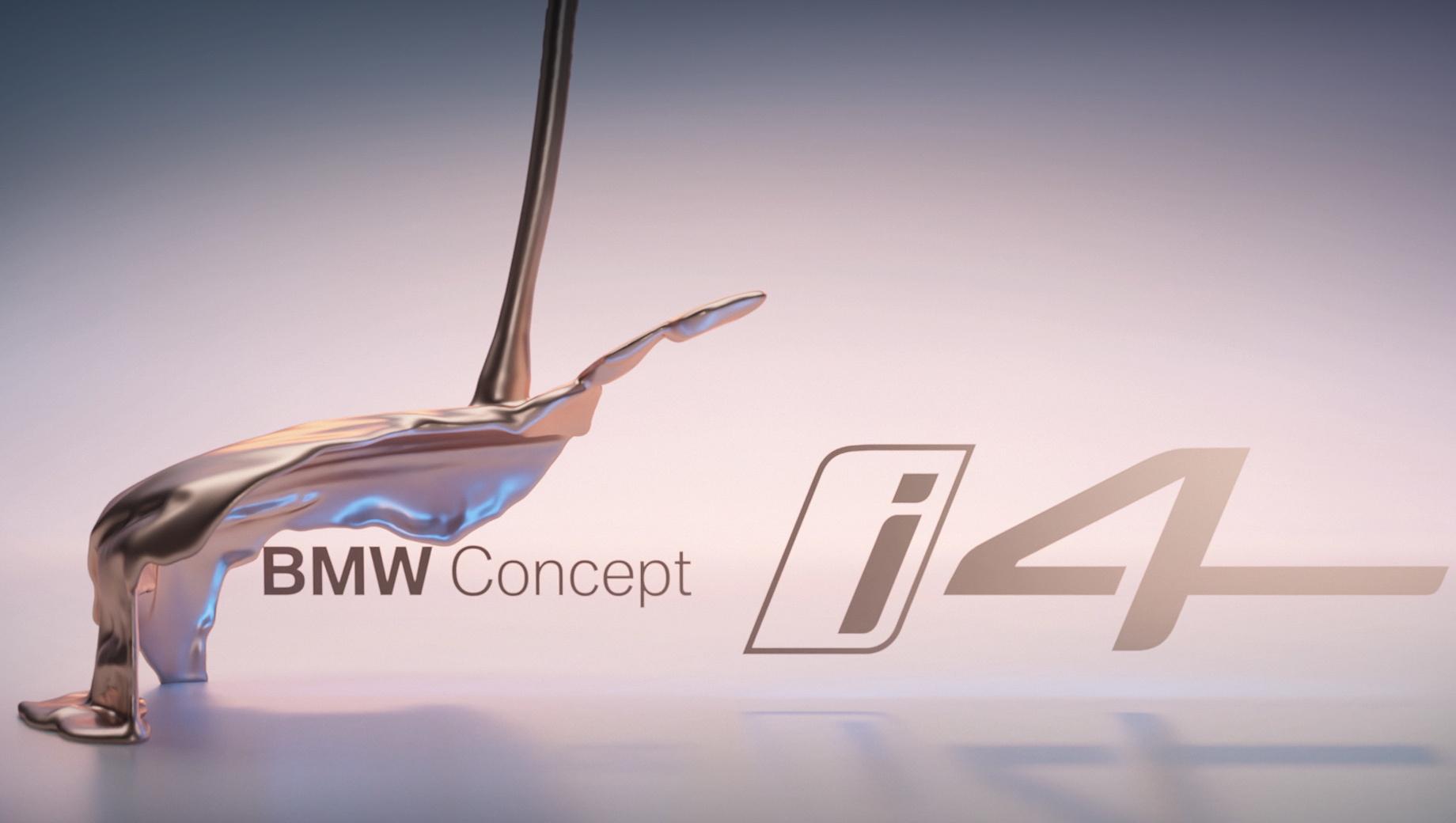 Bmw i4. «Четырёхдверное Gran Coupe» станет первой чисто электрической моделью BMW Group в D-сегменте, но вместо фотографий компания опубликовала тизер концепта.