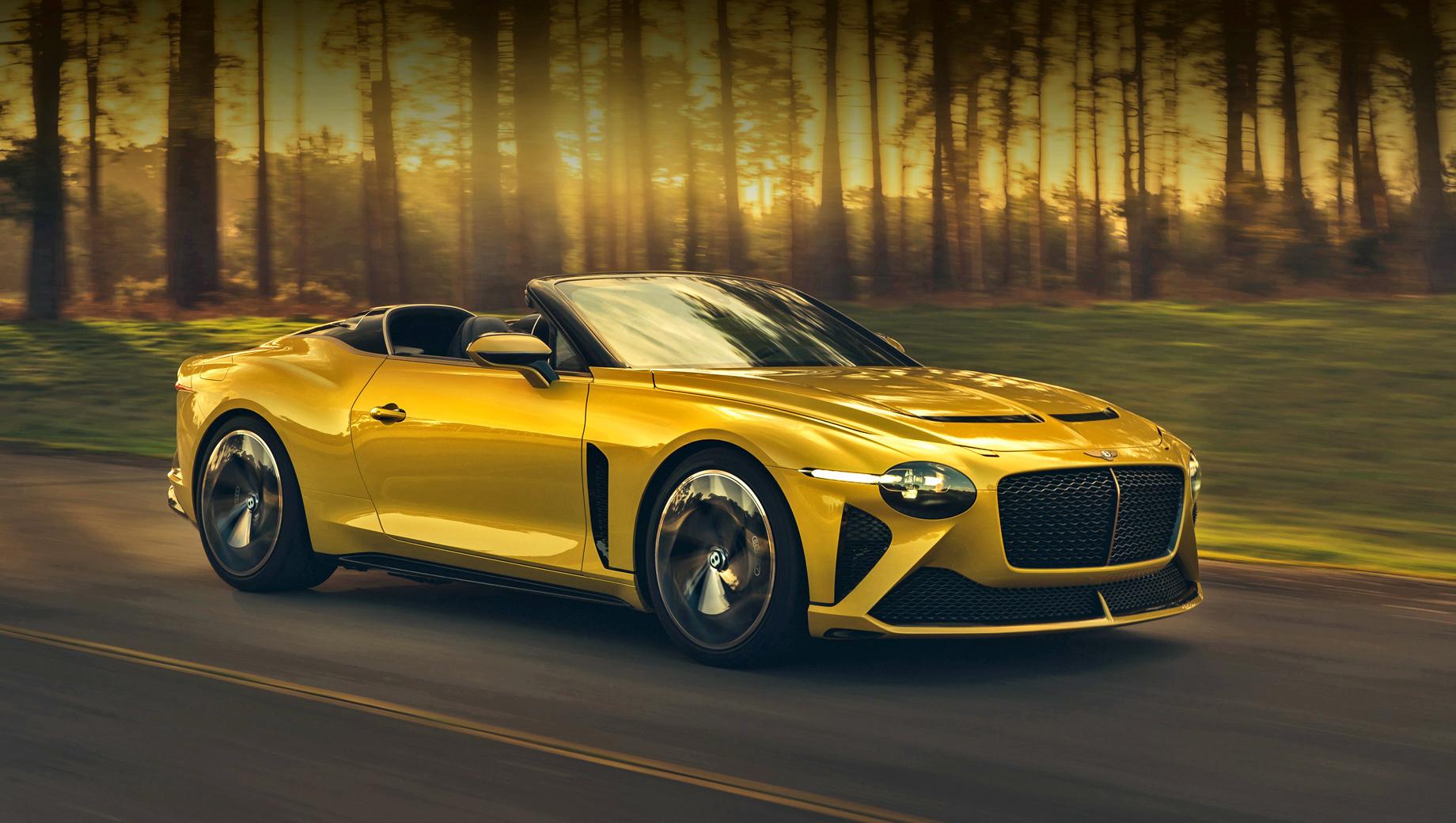 Bentley bacalar. Облик открытой модели вдохновлён концептом EXP 100 GT, как и экологические материалы, применённые в отделке.