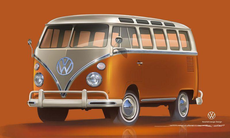 Volkswagen перекинет мостик отэлектрокара T2 квэну I.D. Buzz