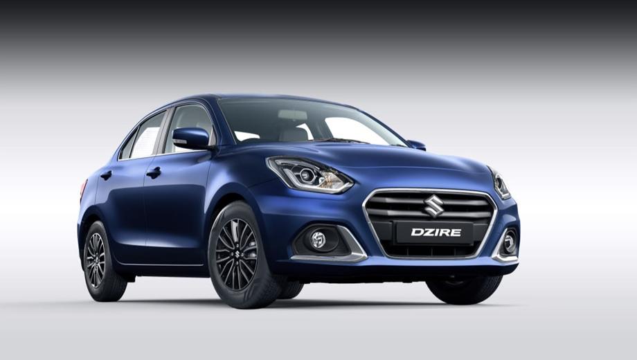 Suzuki dzire. Dzire, соплатформенник Свифта, относится к специфическому и очень популярному в Индии сегменту: седаны короче четырёх метров (в данном случае 3995 мм при базе в 2450 мм). Соперниками выступают Tata Tigor, Honda Amaze и Hyundai Xcent. Третье поколение Dzire вышло в свет в 2017 году.
