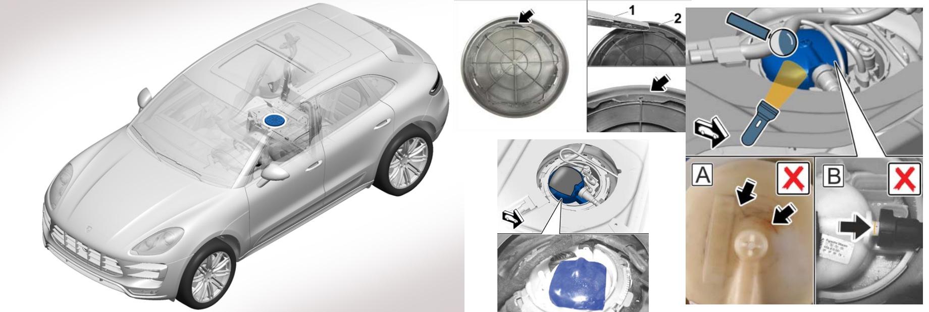 Кроссоверы Porsche Macan отозваны из-за риска утечки топлива
