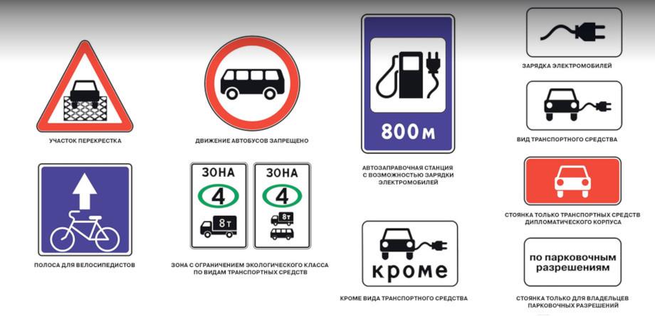 Несколько новых дорожных знаков добавлено вГОСТы