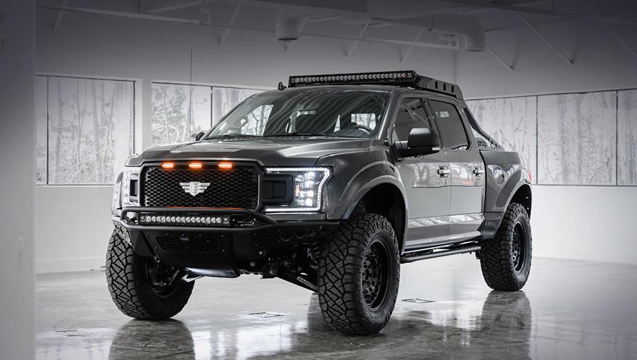 Ford f-150. Цена на Ford F-150 от Mil-Spec начинается с $85 000 (6,6 млн рублей), включая донорский Ford F-150. За последний в версии с V8 просят минимум $39 620 (3,1 млн рублей). Дополнительные $8600 и $6000 (663 000 и 462 000 рублей) стоят пакеты Baja Appearance и Baja Suspension.