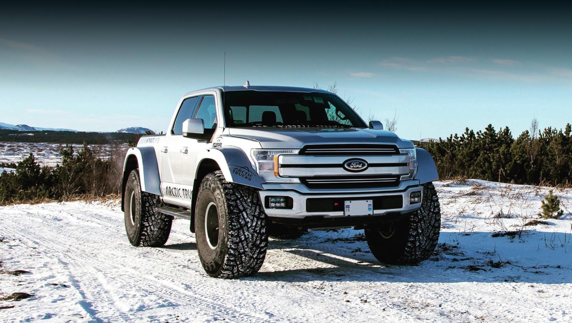 Ford F-150 AT44 проверил в снегах доработки от Arctic Trucks