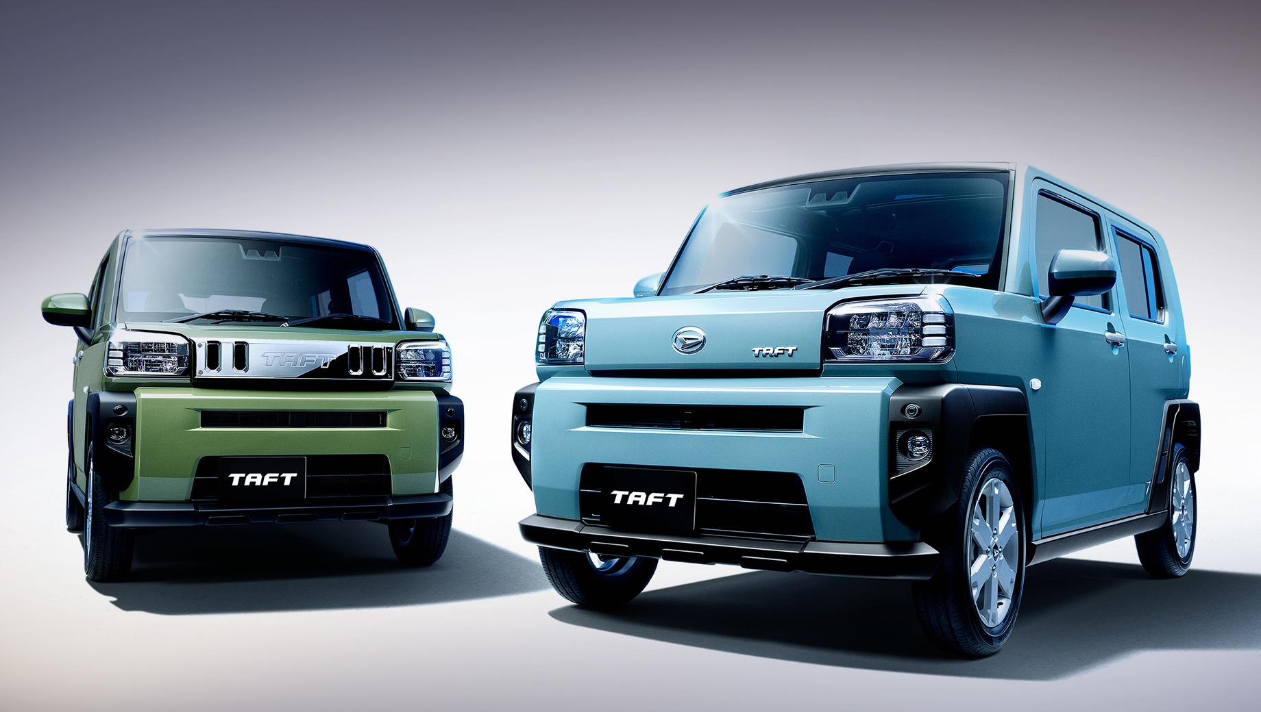Daihatsu taft. Хромированная накладка между фар — всего лишь дилерская опция, а не признак какой-либо версии. Размеры, заявленные прототипом: 3395×1475×1630 мм. Колёсная база не названа, но можно предположить 2460.  Дорожный просвет — 190 мм.
