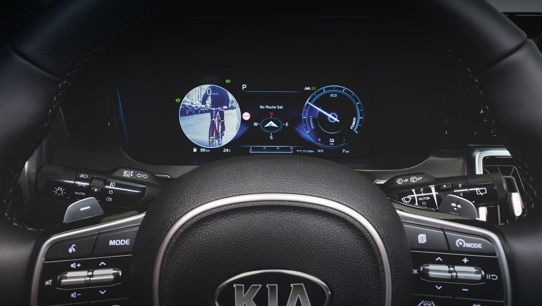 Kia sorento. На Sorento заказать систему Blind-Spot View Monitor отдельно нельзя. Она входит в пакет опций, где ещё есть камеры кругового обзора, парковочный ассистент и аудиосистема Bose с 12 динамиками.