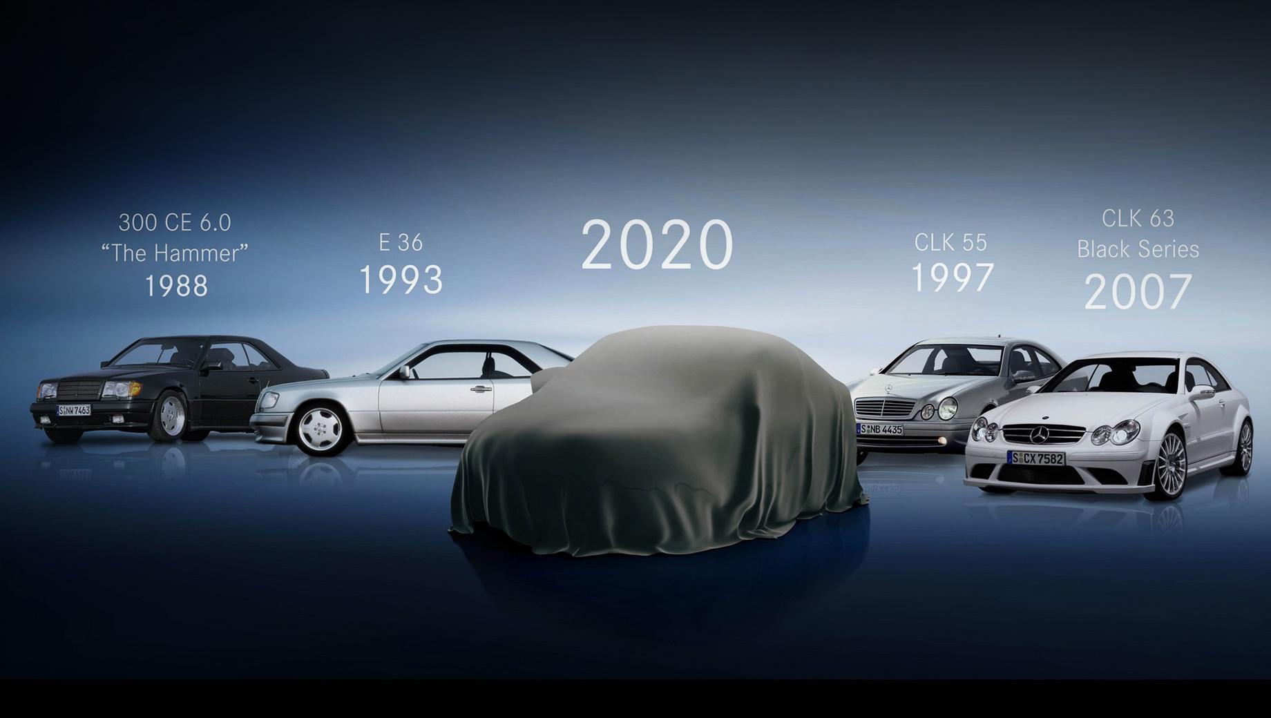Mercedes e,Mercedes e coupe,Mercedes e cabrio. Торжественный антураж больше подошёл бы смене поколений, а не подтяжке лица. Ретроспектива намекает, что купе Mercedes-AMG E 53 4Matic+ будет достойно своих славных предков.