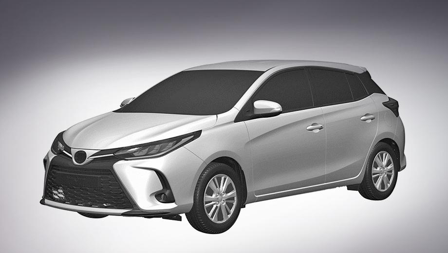 Toyota yaris. Размеры текущего хэтчбека (4145×1730×1475 мм, база 2550) вряд ли заметно изменятся. Yaris всё ещё использует «тележку» Toyota B, которая означает стойки McPherson спереди и балку сзади.