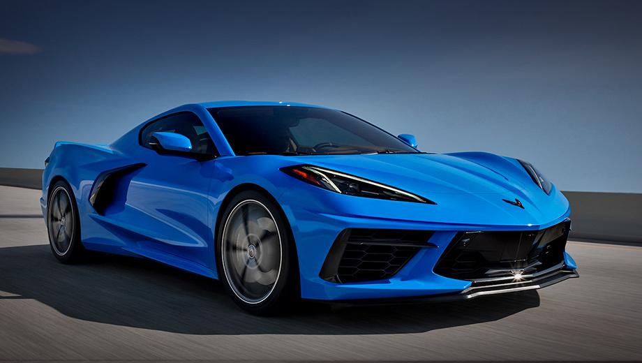 Chevrolet corvette. Дилеры в Великобритании начали приём заказов на Corvette C8, но первые машины приедут в Туманный Альбион лишь во второй половине 2021 года. Стартовая цена — 81 700 фунтов (7,1 млн рублей). Для сравнения, гибрид Honda NSX (581 л.с., 644 Н•м) стоит 149 950 фунтов (13 млн).