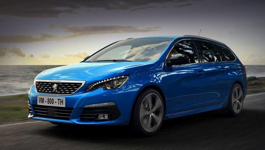 Peugeot 308. Внешность «Автомобиля года» (2014) не изменилась. Новыми стали только синий цвет кузова Vertigo Blue (на фото) и два дополнительных варианта колёсных дисков.