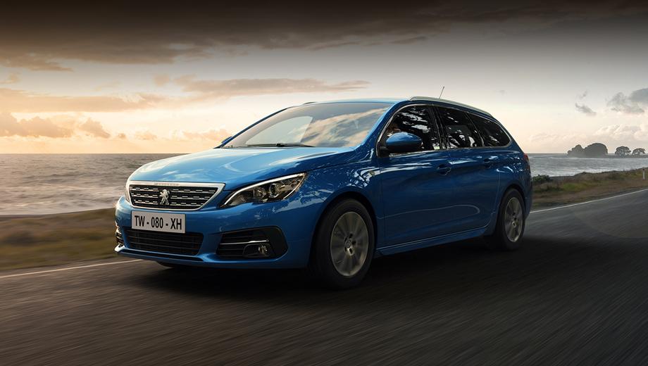 Peugeot 308. Модель 308 Roadtrip может быть как универсалом, так и хэтчбеком. Доступна вся гамма цветов 308-го, включая новый оттенок Vertigo Blue, который интересен трёхслойной технологией окраски, с дополнительным базовым слоем, наносимым на кузов до основного лака.