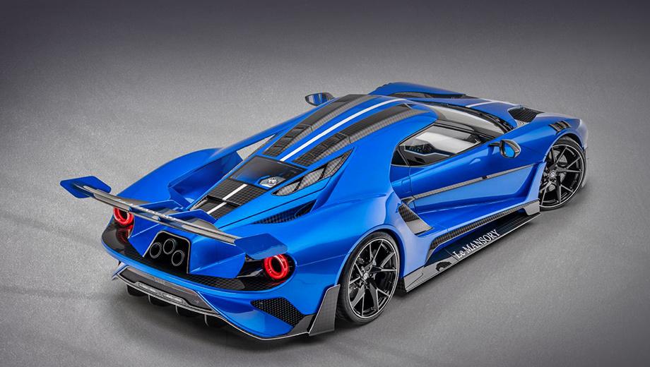 Ford gt. Новинка от известных тюнеров снабжена фирменными коваными колёсами типа YN.5. Передняя ось комплектуется шинами Continental Sport Contact 6 размерностью 245/30 ZR, задняя — 325/25 ZR21.