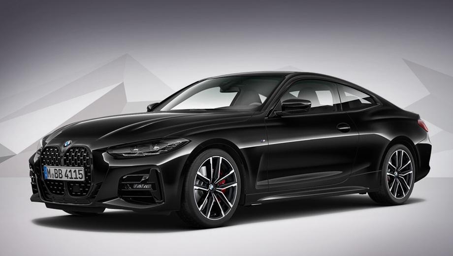 Bmw 4. Купе BMW 420d xDrive в исполнении Shadow Edition укомплектовано дизелем с двухступенчатым наддувом. Отдача — 190 л.с. и 400 Н·м. Ускорение до сотни у такой двухдверки занимает 7,5 с, а максимальная скорость достигает 238 км/ч.