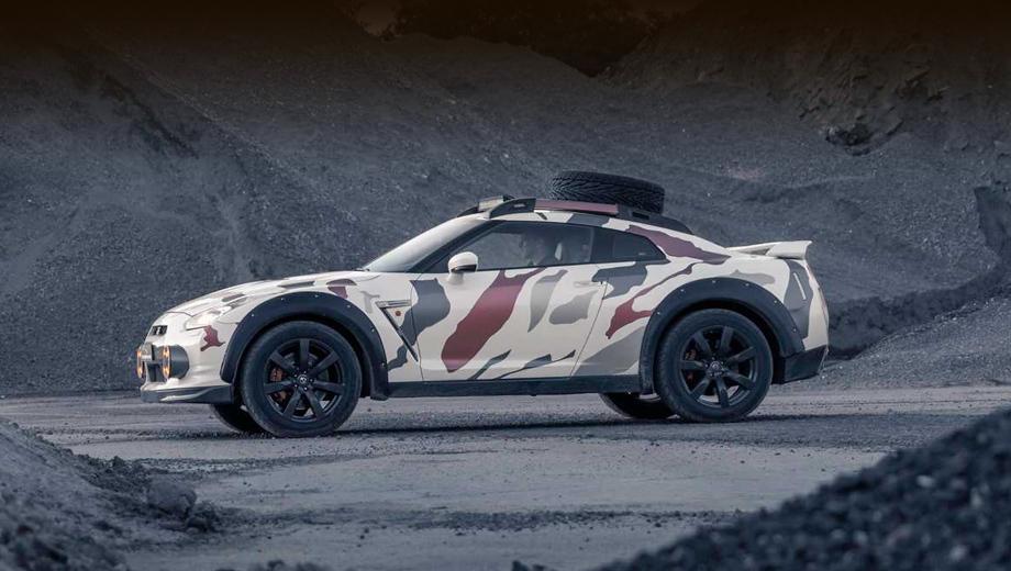 Nissan gt-r,Nissan gt-r offroad. Голландцы пишут, что увеличили клиренс на 120 мм. В базовом GT-R, как мы знаем, 110 мм. Итого 230 — не у каждого кроссовера столько наберётся.
