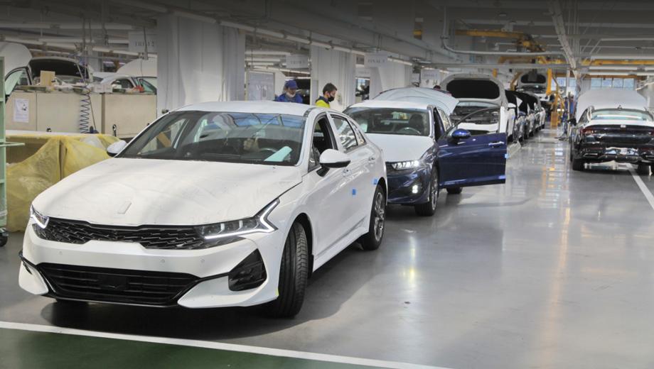 Новый седан Kia K5 локализован в России