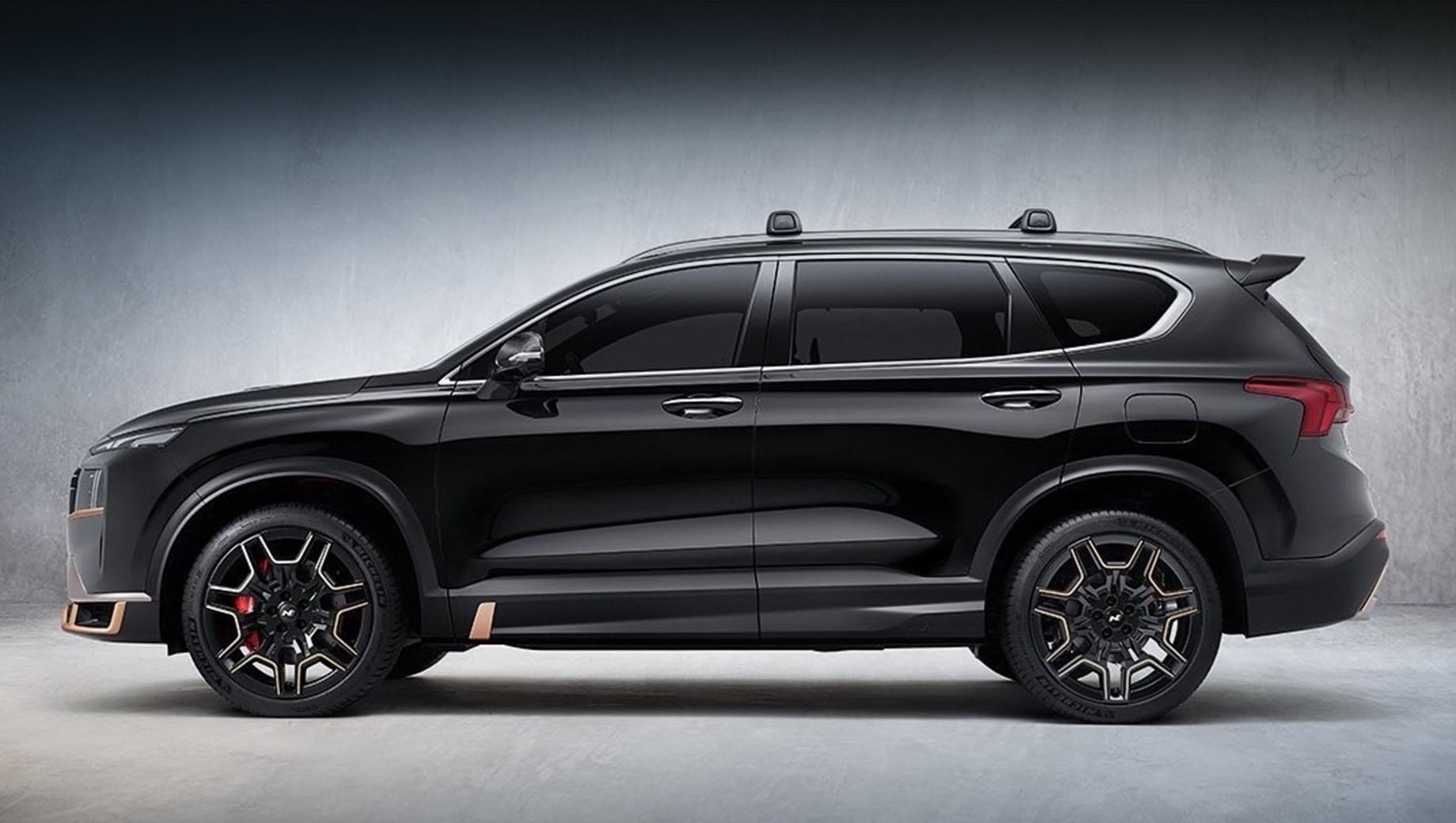 Обновлённый Hyundai Santa Fe породнится с N-серией