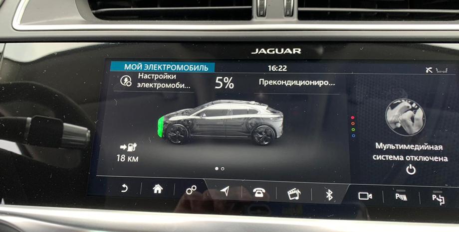 Jaguar I-Pace превысил паспортный запас хода вреальных условиях