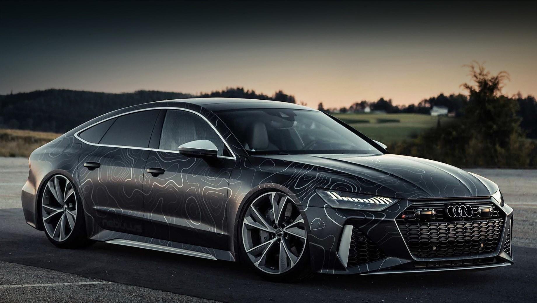 Audi rs7. Nebulus Audi RS7 Sportback лишена ограничителя скорости. Поэтому на испытаниях в руках тюнеров хэтчбек смог развить 363 км/ч. У заводской версии максимальная скорость по умолчанию составляет 250 км/ч, но она может быть увеличена до 280 и 305 км/ч с пакетами Dynamic и Dynamic plus соответственно.