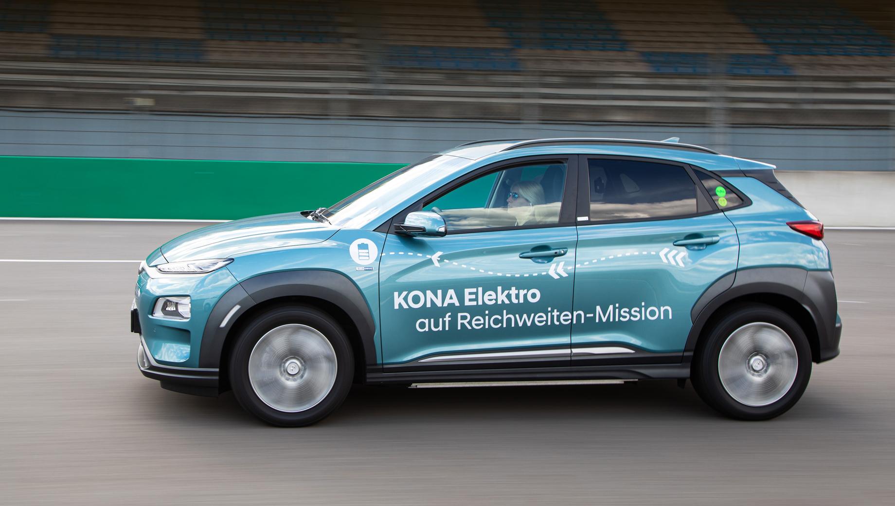 Три электрокара Hyundai Kona прошли на зарядке более 1000 км каждый
