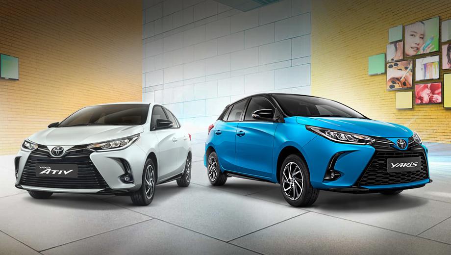 Toyota Yaris претерпела подтяжку лица в Таиланде