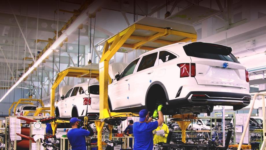 Kia Sorento четвёртого поколения встал на конвейер «Автотора»