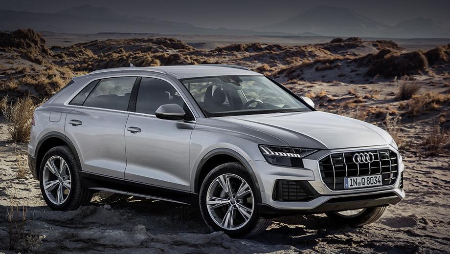 Audi q8. Бензиновый кроссовер Q8 55 TFSI сейчас «начинается» с 5 335 000 рублей. Дизельный Q8 45 TDI немного дешевле — от 5 210 000. За семь месяцев 2020-го продано 1026 машин, а отзываются 16.