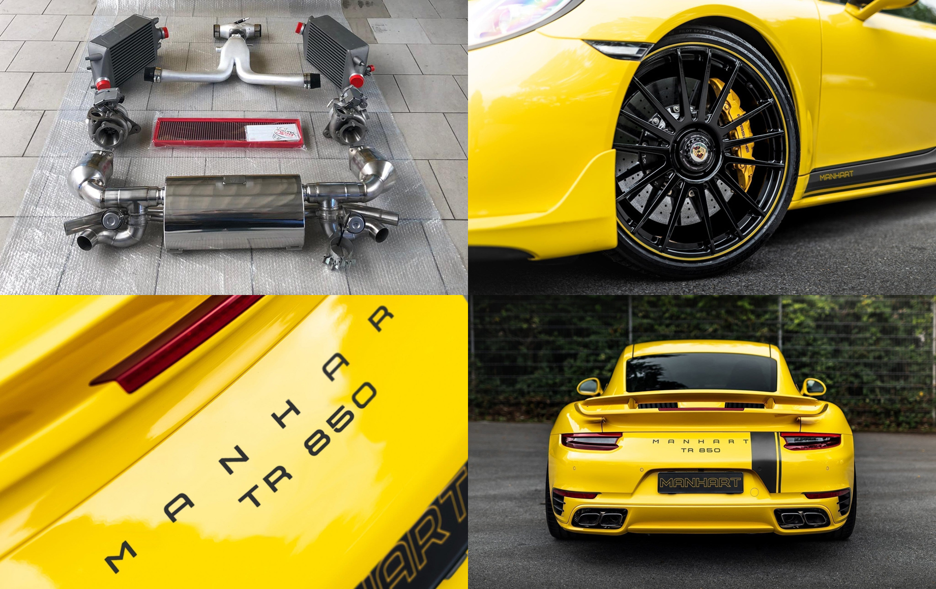 Ателье Manhart позаботилось остаром Porsche 911 Turbo S
