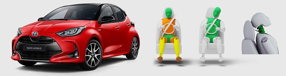 Toyota Yaris заработала звёзды Euro NCAP поновым правилам