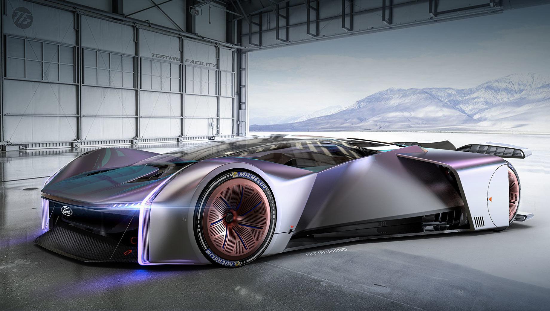 Ford team zilla p1. Дизайн спорткара выбирали 250 000 пользователей, голосовавших в Твиттере за один из двух вариантов. Project P1 от фордовского экстерьерщика Артуро Ариньо победил, набрав 83,8% голосов. (Автор говорит, что вдохновлялся суперкаром Ford GT.) Машина дебютировала в августе на выставке GamesCom 2020.