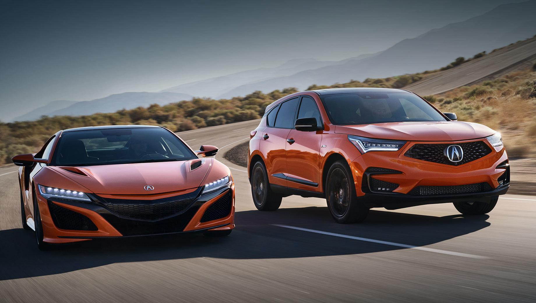 Acura rdx. Новинка не примерит фирменный для серии PMC колер Valencia Red Pearl. Пятидверки окрасят в перламутровый оттенок Thermal Orange Pearl, который используют с 2019 года на купе NSX. Процесс многослойной роботизированной окраски занимает около пяти дней.