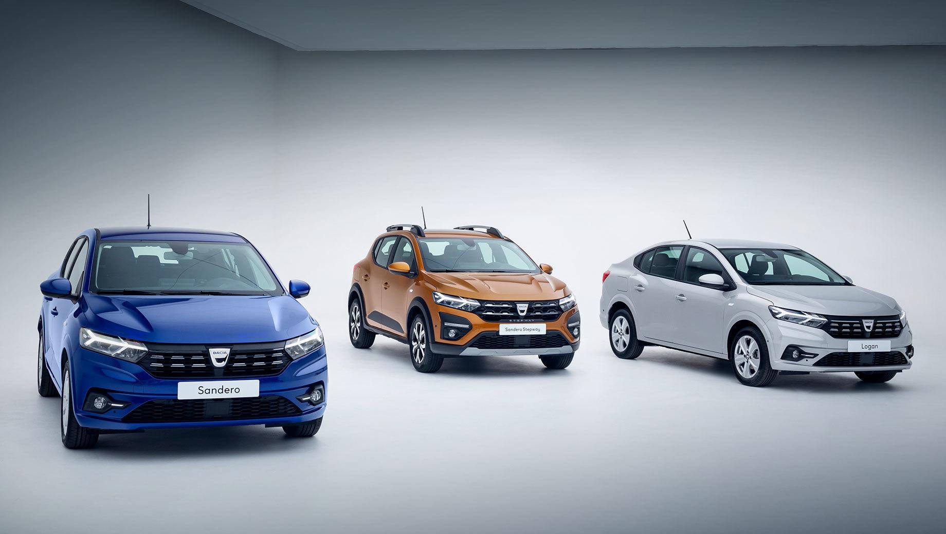 Dacia logan,Dacia sandero,Dacia sandero stepway,Renault logan,Renault sandero,Renault sandero stepway. За новый дизайн отвечает команда Жана-Филиппа Салара из центра RDCE в Бухаресте. Светодиодные фары и фонари с Y-образной графикой у всего трио будут идти «в базе». Фары бьют на 110 м с шириной луча в 24 м и автоматически переключаются с дальнего на ближний.