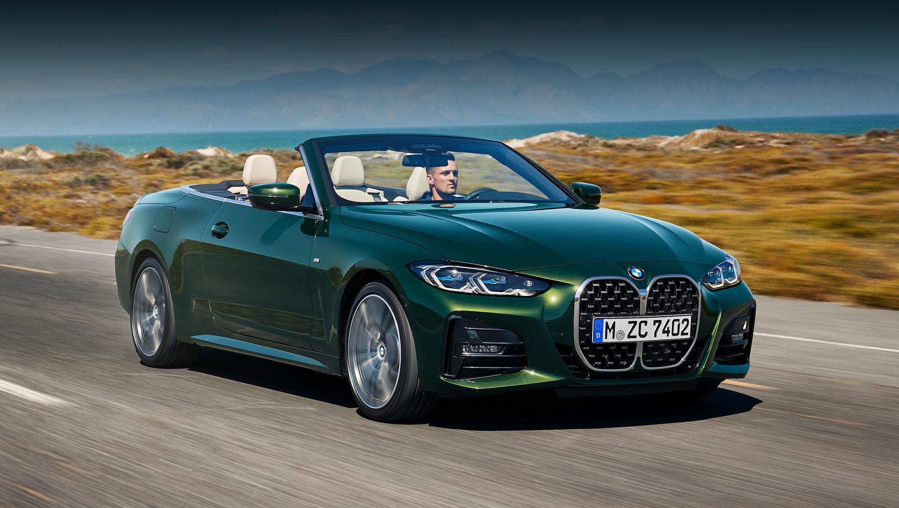 Bmw 4,Bmw 4 convertible. Внешне кабриолет следует по стопам купе BMW четвёртой серии, если не считать собственно верха. В сравнении с прошлым кабриолетом повышена жёсткость кузова на кручение. Развесовка 50:50 тоже положительно отразилась на управляемости.