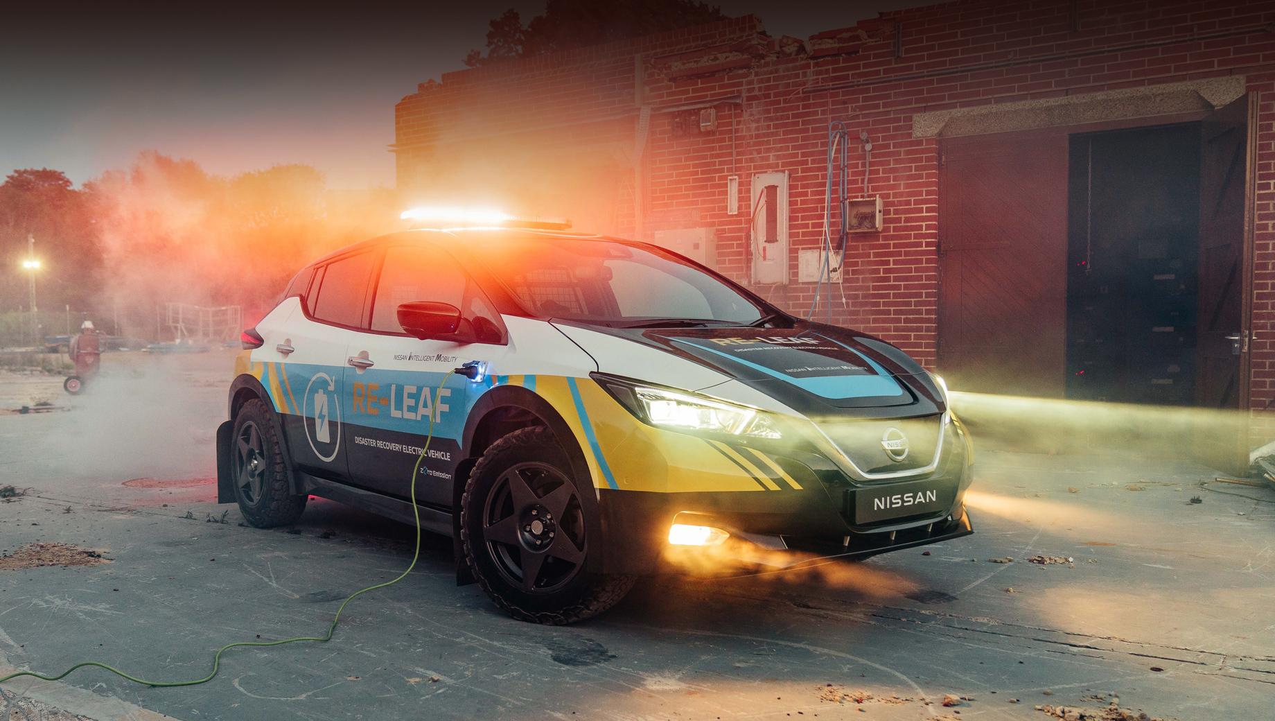 Nissan RE-Leaf призван напомощь аварийщикам испасателям