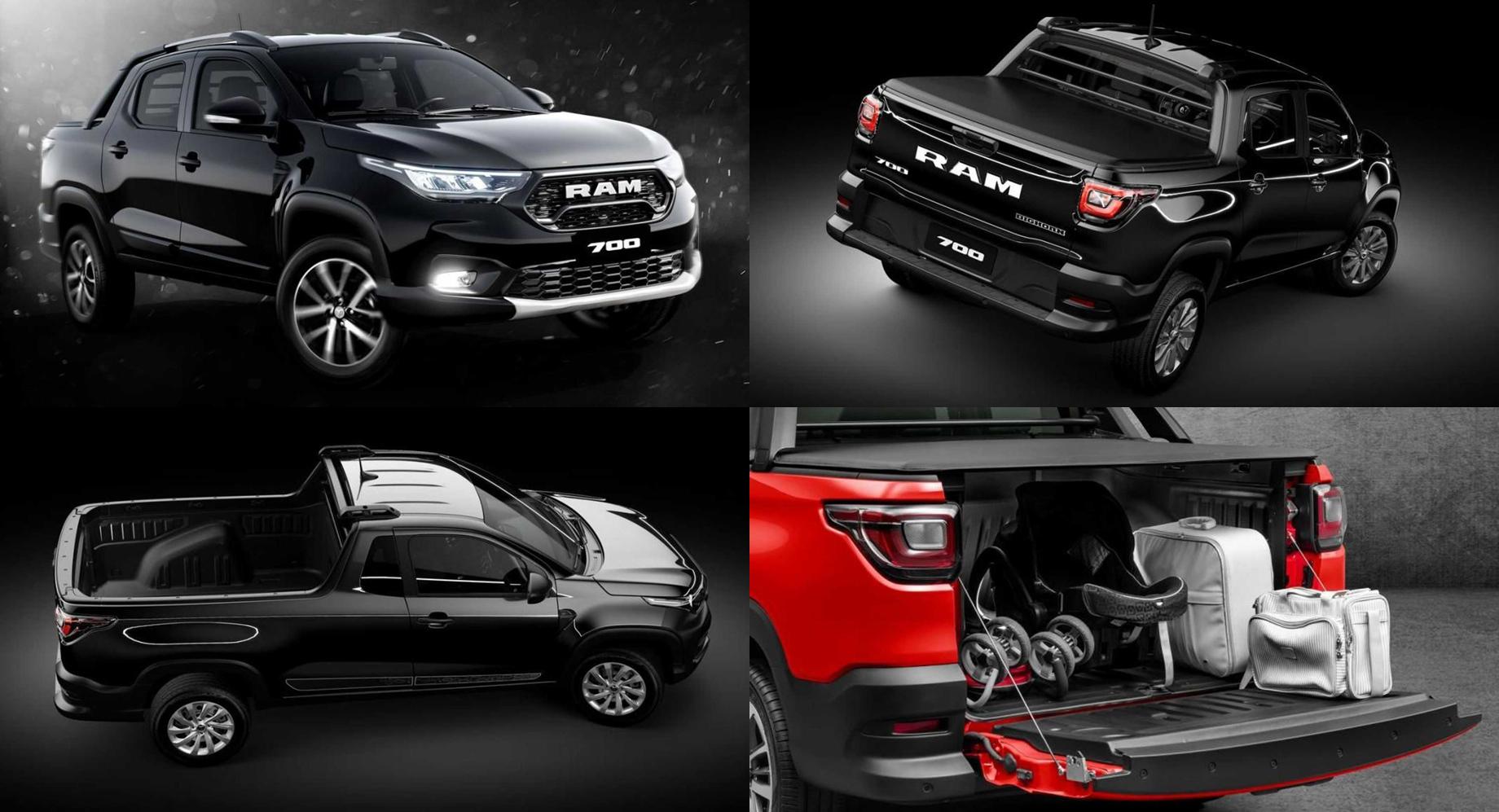 Новый Ram 700 ожидаемо повторил пикап Fiat Strada