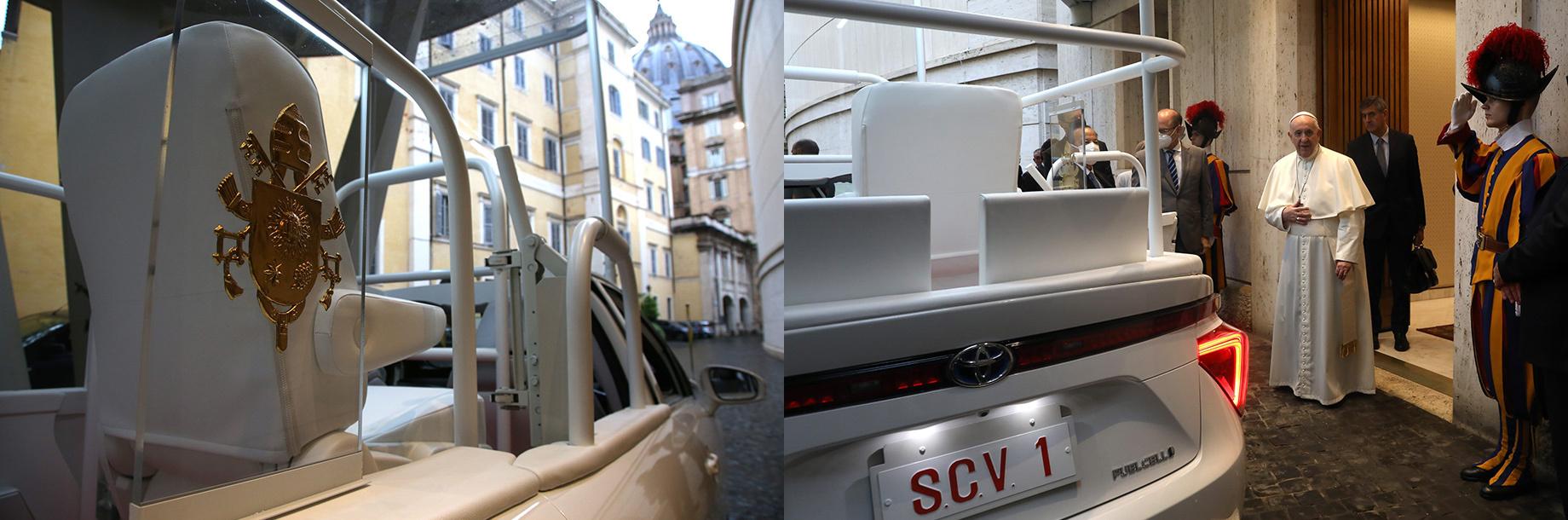 Водородная Toyota Mirai вошла вавтопарк Папы Римского