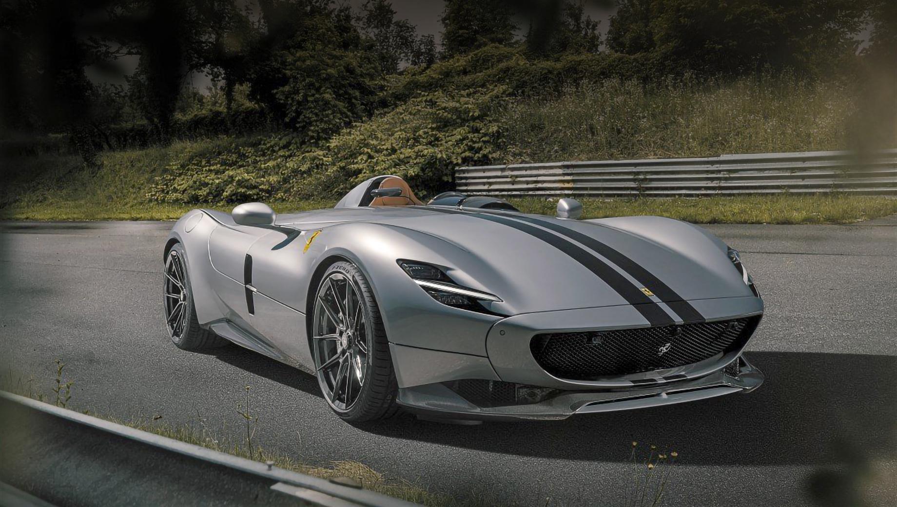Ferrari monza sp1,Ferrari monza sp2. Отправить на техническую модернизацию можно как SP1, так и SP2. Работы над интерьером — по индивидуальному проекту. Однако на подобные эксперименты решатся далеко не все владельцы, ведь тираж коллекционной «итальянки» составляет всего две сотни экземпляров.