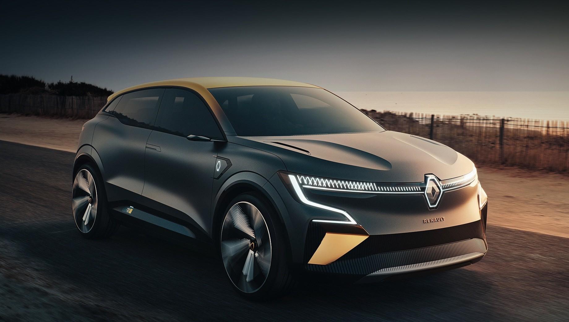 Renault megane,Renault megane evision. По словам Луки де Мео, Renault Megane eVision — попытка изобрести заново классический хэтчбек. А ещё глава французской компании добавил, что концепт — это на 95% серийная модель. Её дебют и производство намечены на начало 2021 года.