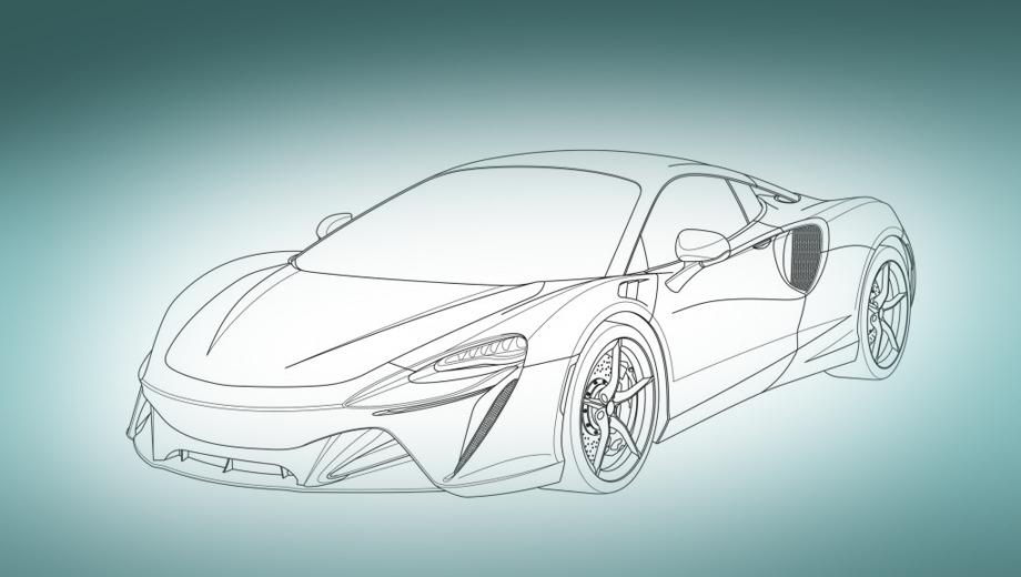 Начальный гибрид McLaren показался на патентных рисунках