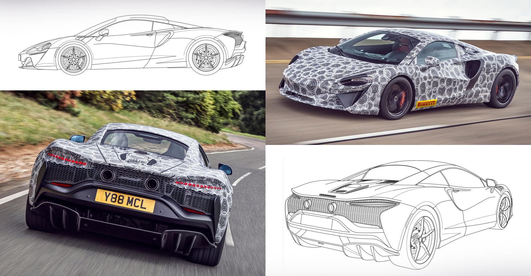Начальный гибрид McLaren показался напатентных рисунках