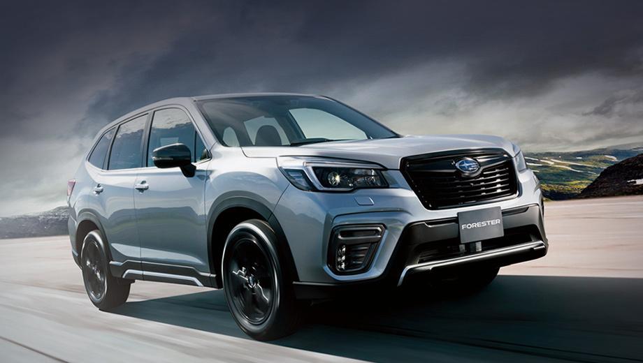 Subaru forester. Турбированный Forester Sport (на фото) ожидаемо сделался самым дорогим: он «начинается» с 3 289 000 иен (2,39 млн рублей), тогда как базовая версия Touring стоит от 2 915 000 (2,12 млн).