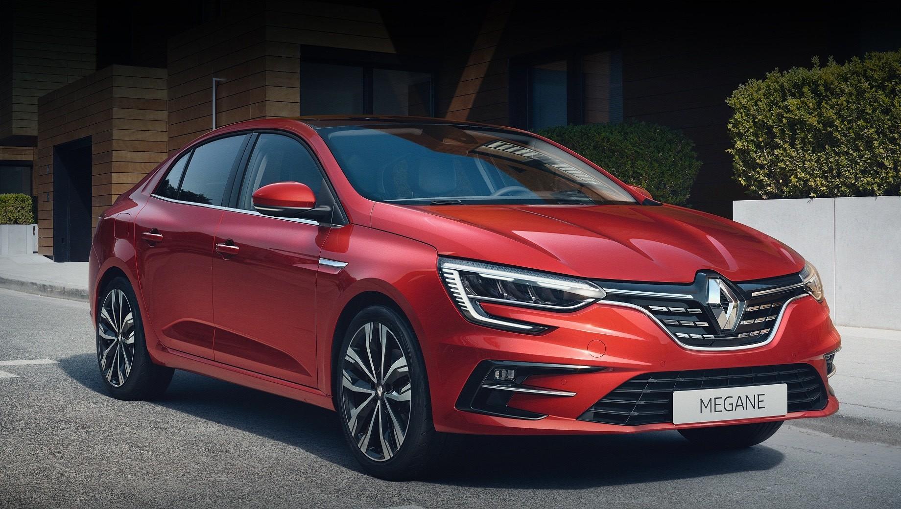 Обновлённый седан Renault Megane остался без электромоторов
