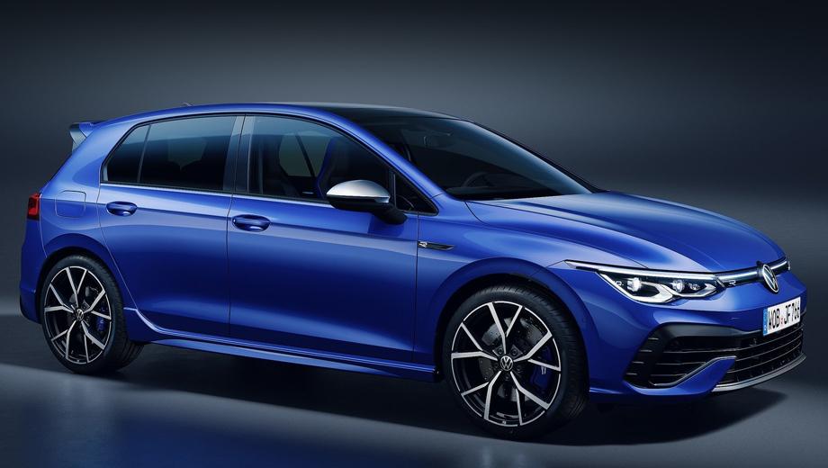 Volkswagen golf,Volkswagen golf r. В сравнении с Гольфом GTI новая «эрка» спереди оформлена, пожалуй, даже более сдержанно — тут нет игривых шестиугольников. Цветов кузова три: Lapiz Blue Metallic, Pure White или Deep Black Pearl Effect.