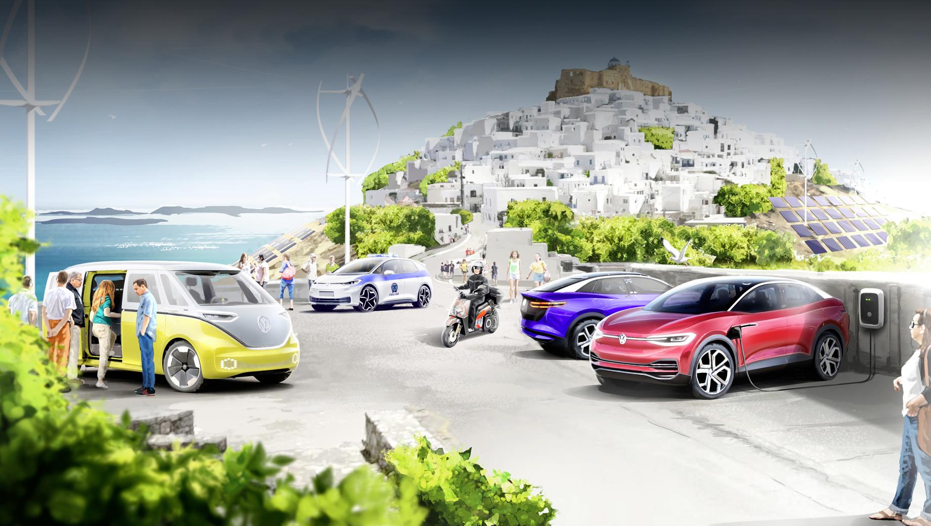 Volkswagen сделает Астипалею образцом зелёной мобильности