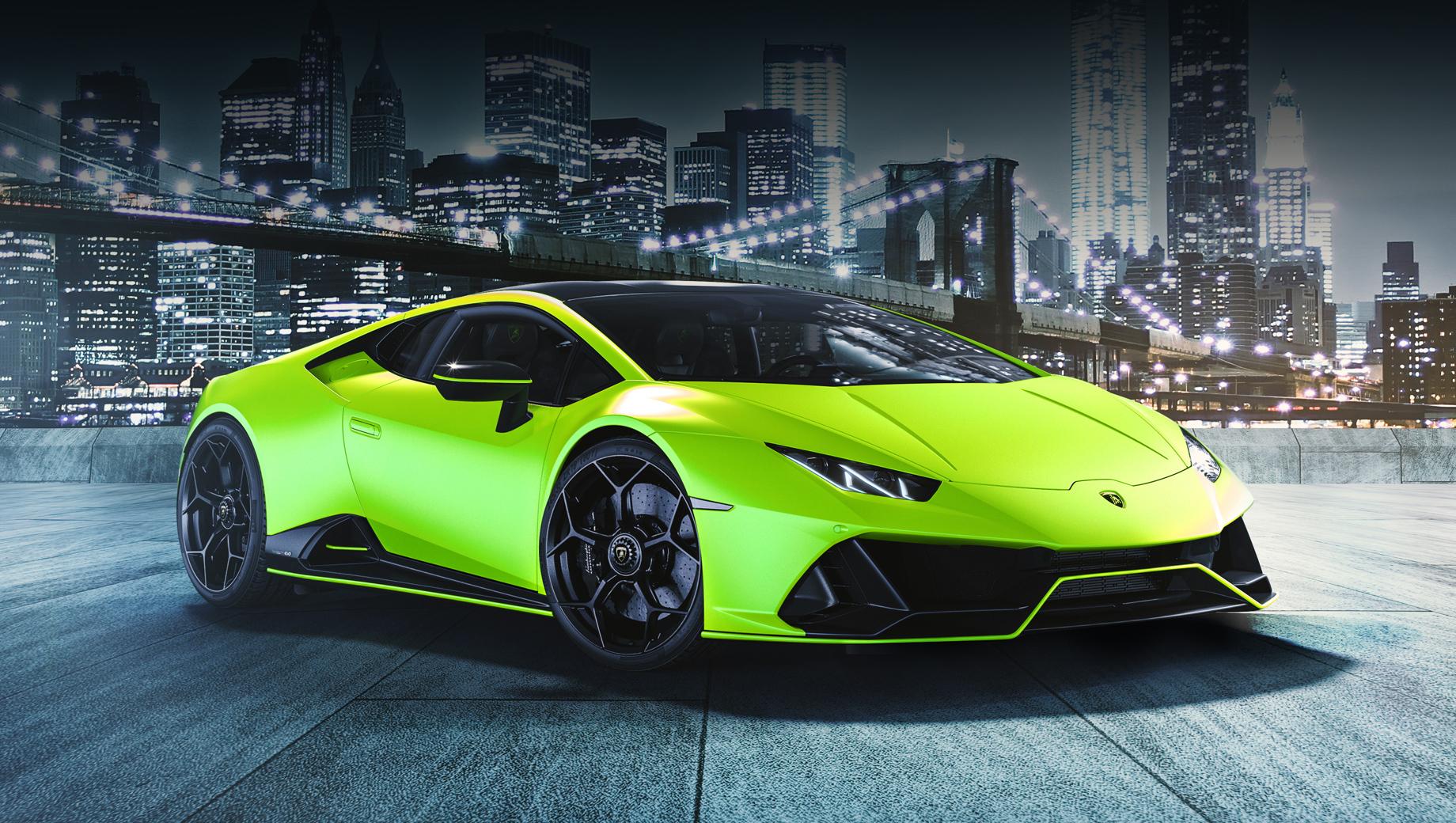 Lamborghini Huracan Evo Fluo Capsule выделился окраской