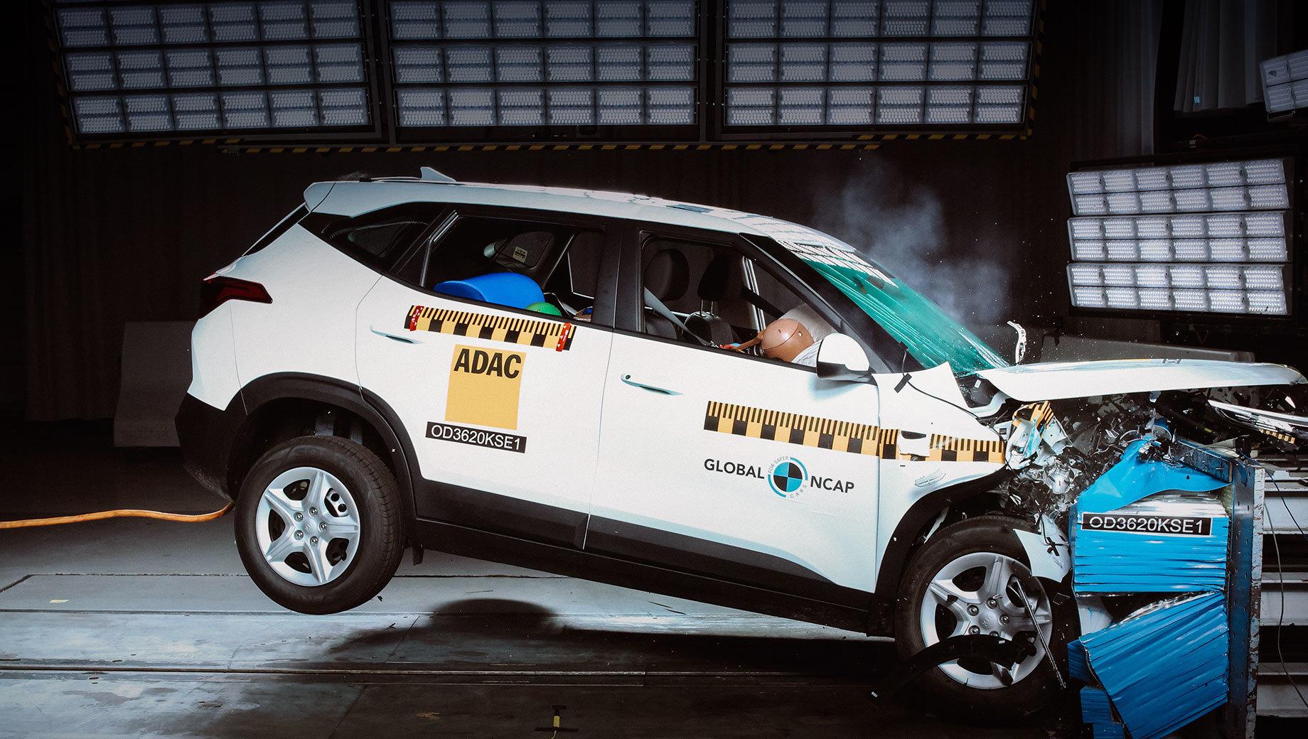 Kia Seltos заработал тройку на краш-тесте Global NCAP