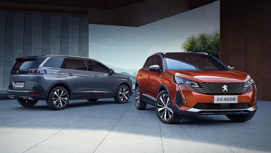 Peugeot 3008, 4008 и 5008 пришли в Китай как две модели